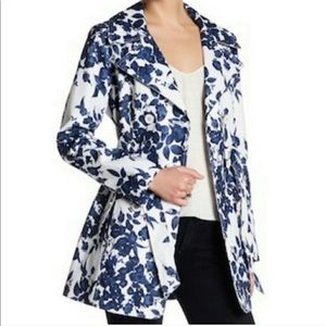 Jessica Simpson Navy Floral Trench NWT